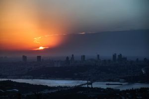 Istanbul At Sunset by Canankk