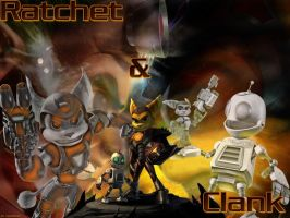 Ratchet and Clank Wallpaper by YukiHunter