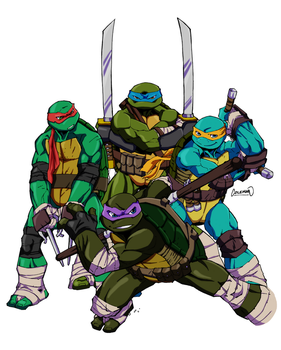 Heroes In A Half Shell By Redcole84 by Elden-rucidor