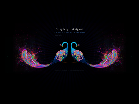 Abstract Peacock Wallpaper by Design-Maker