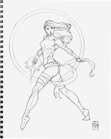Psylocke outta the sketchbook by DrewEdwardJohnson