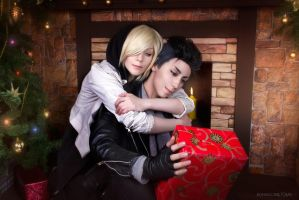 Merry Christmas: Yuri and Otabek by kohakunoyume