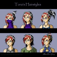 Tora's Hairstyles by punkbot08