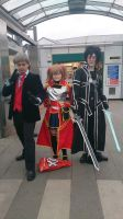 Kirito, Silicia and a worn out 3rd Doctor by M4X1LL10N