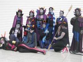 Homestuck group photo AQUARIUS and PICES by Strike2000