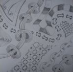 Zentangle - shading training by CeaSanddorn