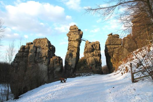 Externsteine Germany by Lilienmeer