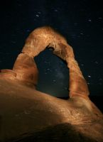 Delicate Arch of the Night by dogeatdog5
