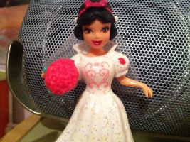 Close up of my Fairy Tale Wedding Snow White Doll by SweetHea