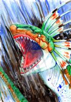 Green Plesioth Rages by jawazcript