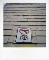 Gun Free Zone Polaroid by jesseboy000