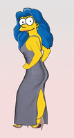 Marge Simpson as Severine by paulibus2001