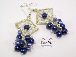Blueberry Earrings by Zsamo