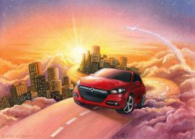 Dodge Dart sunrise by Anity-art