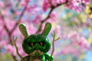 Tree Guardian Amid Blossoms by DJCandiDout