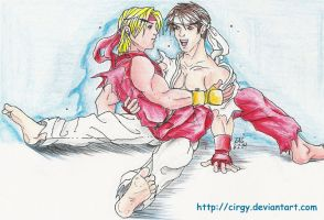 Ken and Ryu by cirgy