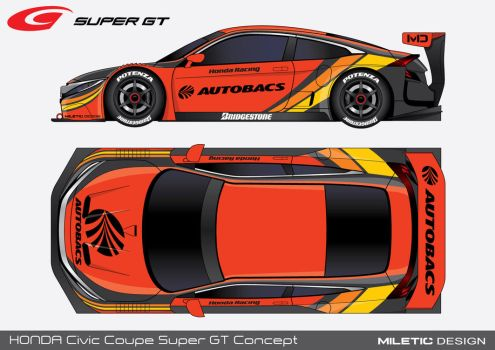 2016. Honda Civic Coupe Super GT by Morfiuss