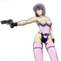 Motoko Kusanagi sketch by PuddinKnight