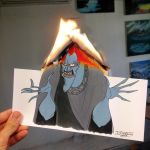Hades Burning Drawing by AtomiccircuS