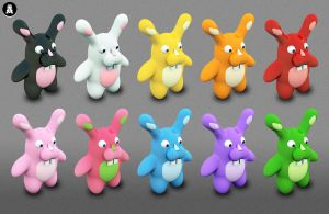Bunnies Archigraphs Icons by Cyberella74