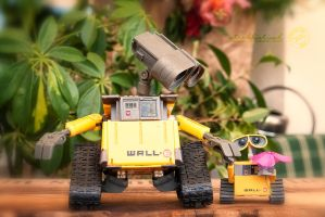 Tidy and his MiniMe Tiny - Wall.E by strehlistisch