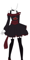 Akatsuki Themed Dress Adoptable by michyla