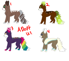Adoptables (OPEN -ONE LEFT) by Schuffles