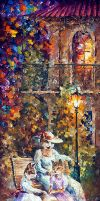 Sister Cats by Leonid Afremov by Leonidafremov