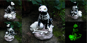 Bones the Skeleton Cat by yingmakes