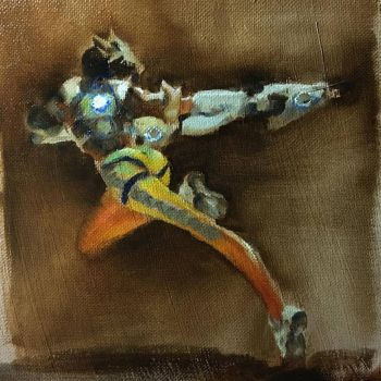 Oil painting - Tracer (Overwatch) by yakonusuke