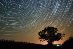 Startrail with Perseids by adamcroh