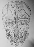 Corvo's Mask / pen drawing by JackThaReappper