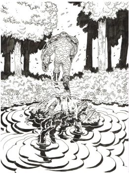 Swamp Thing Cover by KurtBelcher1