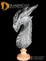 Bearded Dragon bust final sculpt 1 by drakoncast