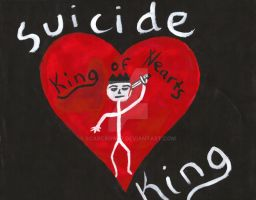 suicide king-king of hearts by scarcrow27