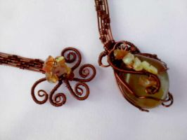 Carnelien necklace by Mirtus63