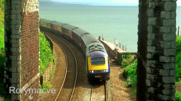 First Great Western HST at Teignmouth by The-Transport-Guild
