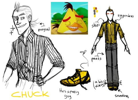 Angry Birds (Toons) : Chuck Humanization by MemQ4