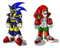 Sonic and Knuckles Reploids by tcat