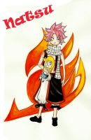 fairy tail - natsu by blackflameknight