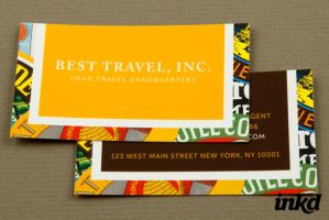 Travel Agency Business Card by inkddesign