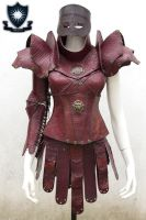 Brienne Marron Leather Armour by LipCreativeStudio