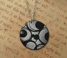 Retro Circles Hand Torched Enamel Necklace by FusedElegance
