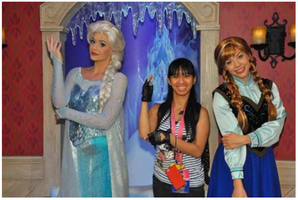 Queen Elsa, Princess Anna and I did the pose pic 2 by Magic-Kristina-KW