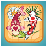 Kawaii Lucky Koi Icon Vector by KawaiiUniverseStudio
