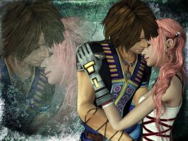 Noel x Serah Wallpaper - More than friends by Aorka