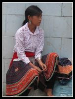 White Hmong girl waiting by Olithys