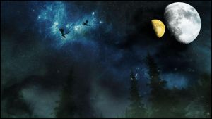 Dragons in the Night Sky 2 by EKKnight