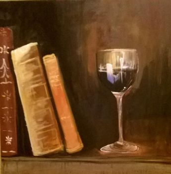 Books and Glass by JeanBlaze