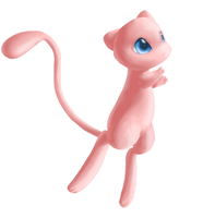 The floating Mew by Mewitti
